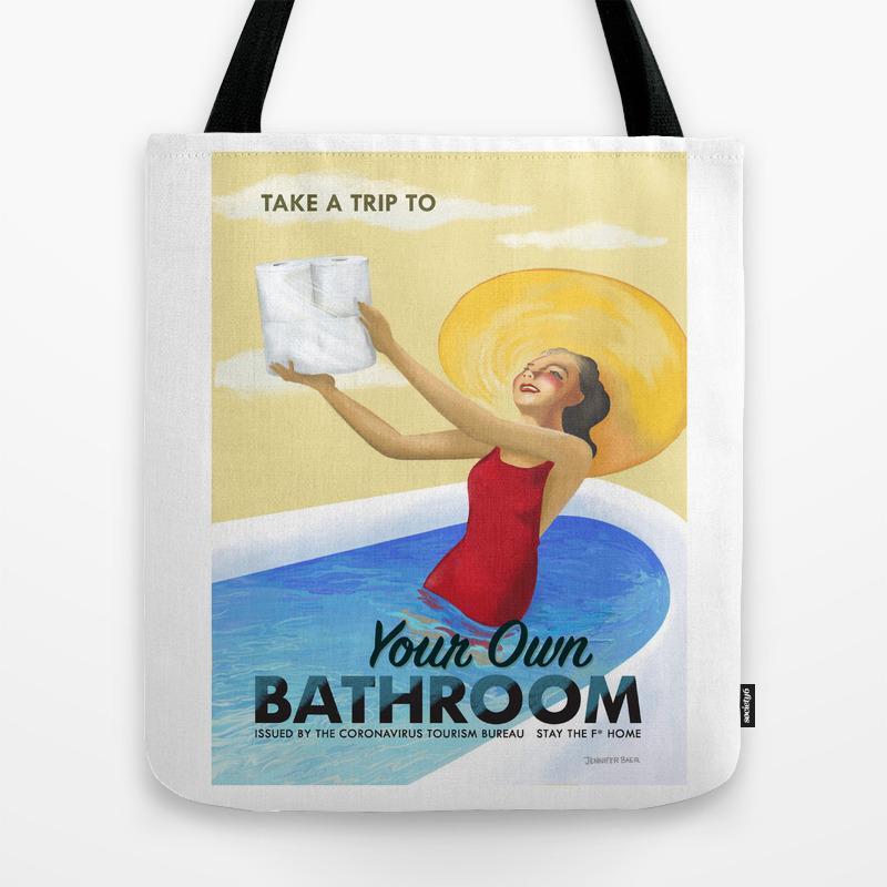 Own Bathroom Tote Bag By Jenniferbaer