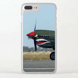 VH-ZOC Curtiss P-40N Warhawk Clear iPhone Case