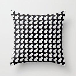 Snow white kitten pattern Throw Pillow
