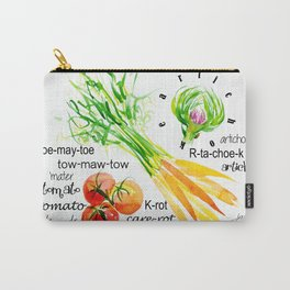 Veggie Dictionary Carry-All Pouch
