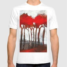 Red trees MEDIUM White Mens Fitted Tee