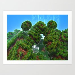 Bacterium Hedgerow Art Print
