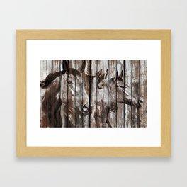 Three Horses Framed Art Print