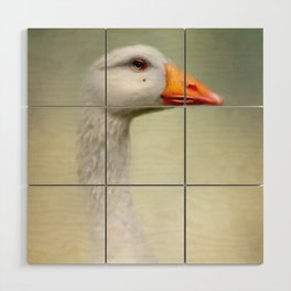 Goose with a beauty spot Wood Wall Art