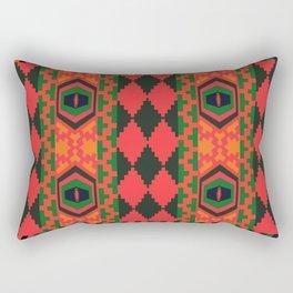 Neon tribal art Rectangular Pillow