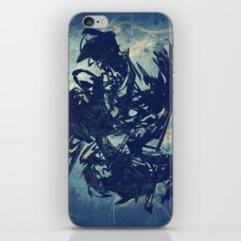 Arty Abstract Blue iPhone Skin