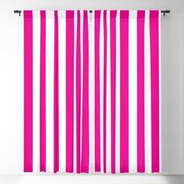 Vertical Pink Stripes Blackout Curtain