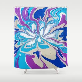 Abstract floral in colour Shower Curtain