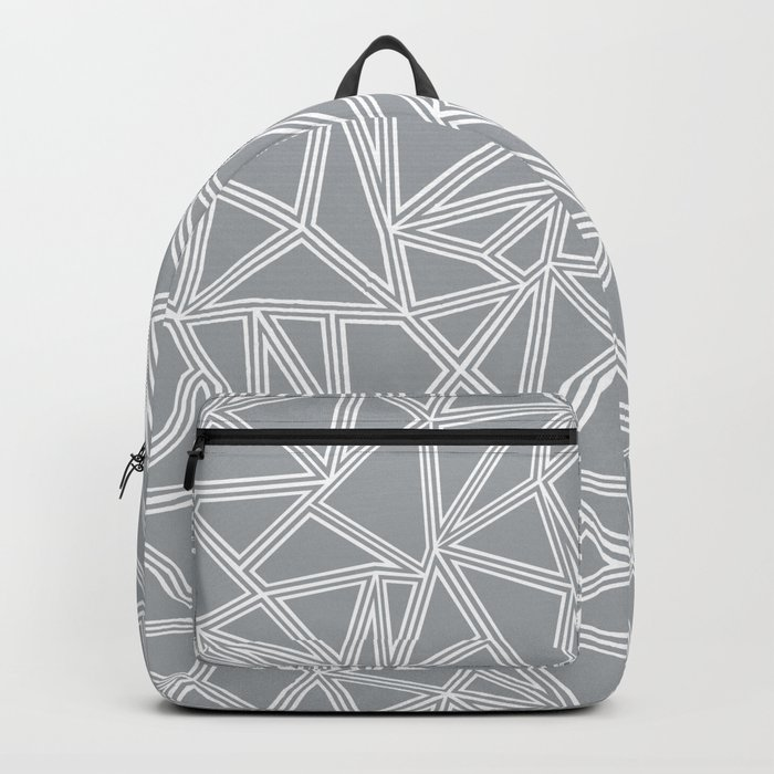 Shattered Ab Grey and White Backpack
