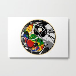 Cosmic Peace in the Abstract Balance of Order and Chaos Metal Print