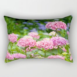 Pink & Lavender Flower Clusters Rectangular Pillow
