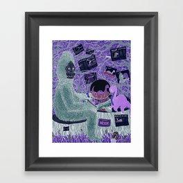 Sasquatch Hearts Nessie Framed Art Print