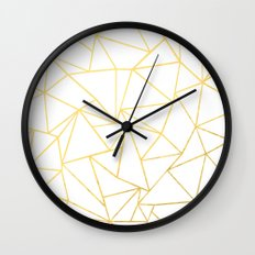 Ab Outline White Gold Wall Clock