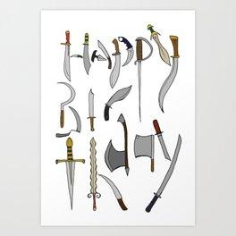 Knives Art Print