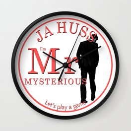Mr. Mysterious by JA Huss Wall Clock