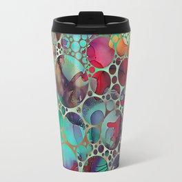 Dots on Painted Background 6 Travel Mug