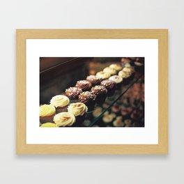 Cupcake corner bakery Framed Art Print