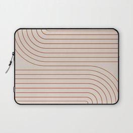Minimal Line Curvature - Coral II Laptop Sleeve