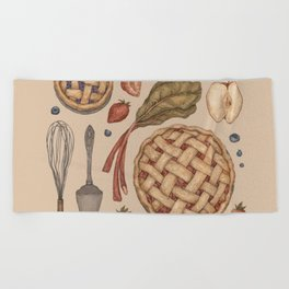 Pie Baking Collection Beach Towel
