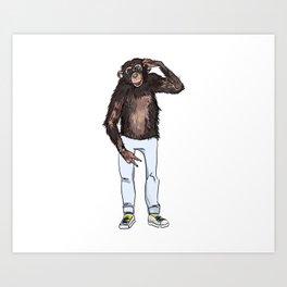 monkey dude Art Print