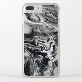 Marble Swirl Clear iPhone Case