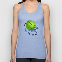 Green Bug Unisex Tank Top