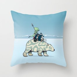 Nature warriors: From Pole to Pole Throw Pillow