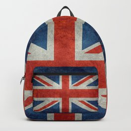 Union Jack flag, grungy retro 1:2 scale Backpack