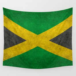 Jamaican flag, Vintage retro style Wall Tapestry
