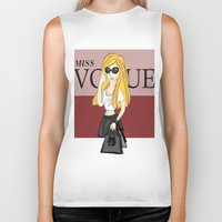 vogue Biker Tanks featuring MISS VOGUE by Amina Soneviseth