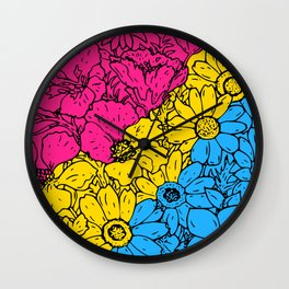 Pansexual Flowers Wall Clock