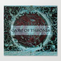 tyrion Canvas Prints featuring Game of Thrones by Jesse Campbell