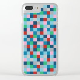 Colour Block #4 Clear iPhone Case