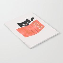 Cat reading book Notebook