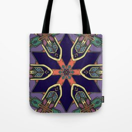 Gothic Revival Reimagined in Purple Tote Bag
