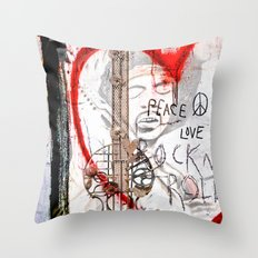 I love Rock'nRoll Throw Pillow