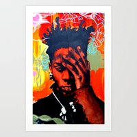 basquiat Art Prints featuring Basquiat  by jack shaftoe