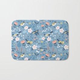 Birds & Blooms (Blue) Bath Mat