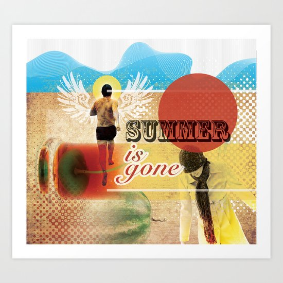 Summer is Gone Art Print