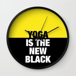 YOGA is the new black Wall Clock