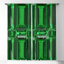 FACETED GREEN EMERALD MAY GEMSTONE ART Blackout Curtain