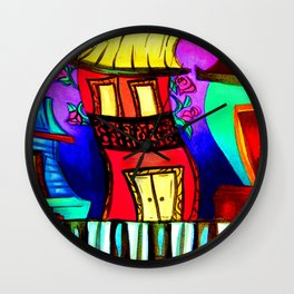 Royal Street Houses Wall Clock