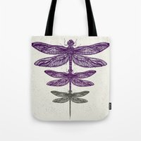 dragonfly Tote Bags featuring Dragonfly  by rskinner1122