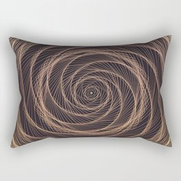 Geometric Rose Rectangular Pillow