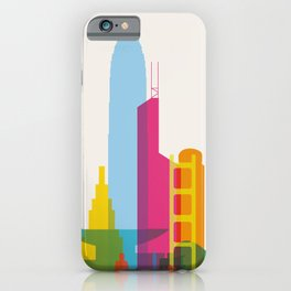 Shapes of Hong Kong. Accurate to scale iPhone Case