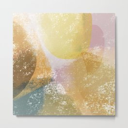 Artistic abstract painting with rough texture and shapes Metal Print