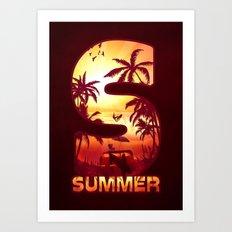 S for Summer Art Print