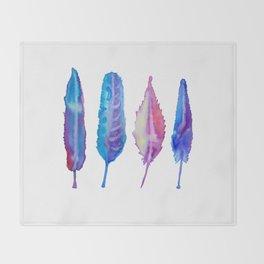 Plumas azules Throw Blanket