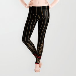 Arrows (Black Red) Leggings