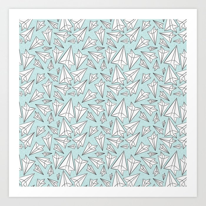 Paper Airplanes Mint Kunstdrucke